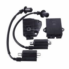 Motorcycle CDI Box Ignition Regulator Coil Set For Yamaha XV250 250 Route 66 XV250 Virago цена