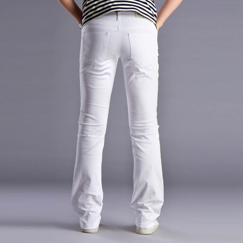 Mens White Stretch Jeans - Xtellar Jeans