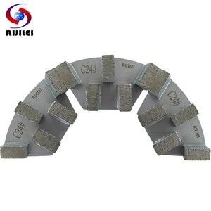 Image 5 - RIJILEI 12 adet sektörü Metal Bond elmas taşlama diski beton zemin taşlama için ayakkabı plaka güçlü manyetik taşlama diski A50