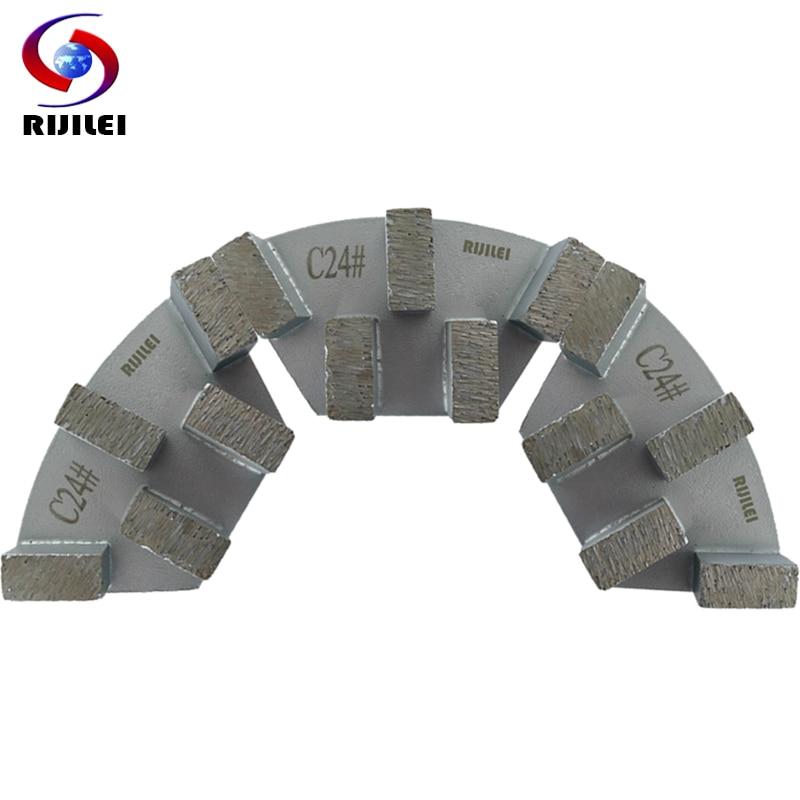 RIJILEI 12PCS Sector Metal Bond Disco de pulido de diamante para piso - Herramientas eléctricas - foto 6