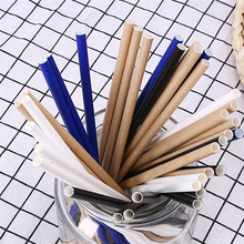 25pcs lot Green Bamboo Paper Drinking Straws Tubes Party Supplies Decoration Cocktail Drink Accessories