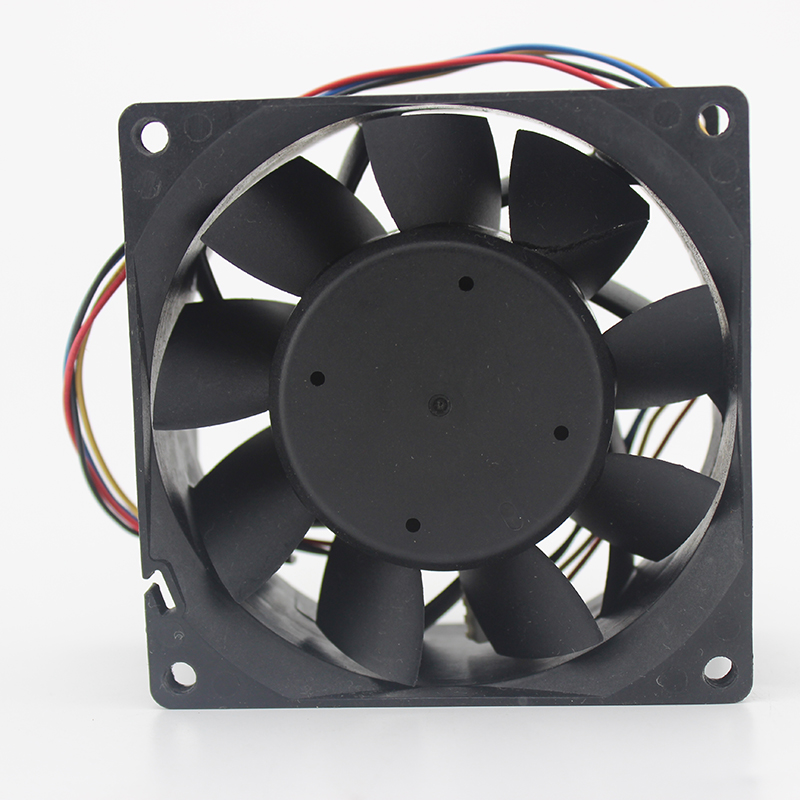 Original 8038 8CM server fan four-wire PWM control speed 1.86A large air volume PFC0812DE