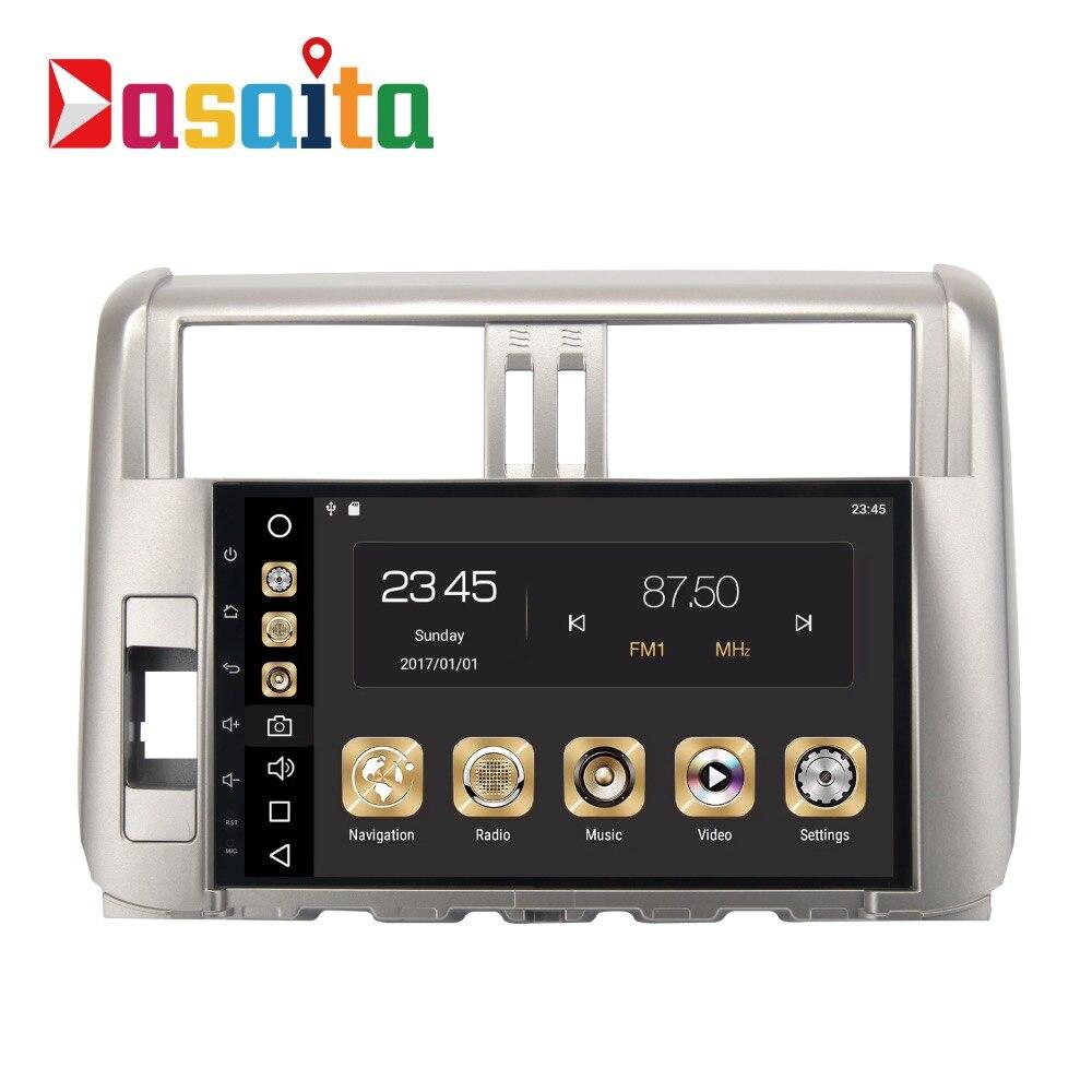 Android 8.0 Autoradio 2 Din Pour Toyota Prado 150 2010 2011 2012 2013 Radio 2 Din Land Cruiser Prado Octa-core 4 Gb RAM 32 Gb ROM