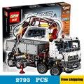 2793 unids técnica arocs control remoto camión 20005 kit de construcción modelo 3d juguetes de bloques de ladrillos compatible con lego