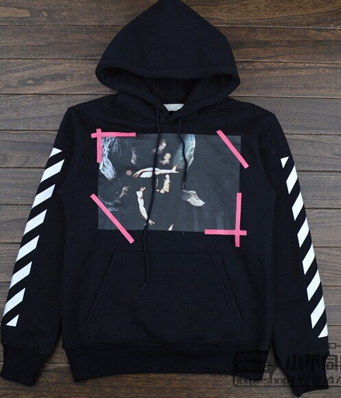 2015 New OFF-WHITE Lady of hedging plus velvet hooded sweatershirt  Virgil Abloh Pyrex Vision