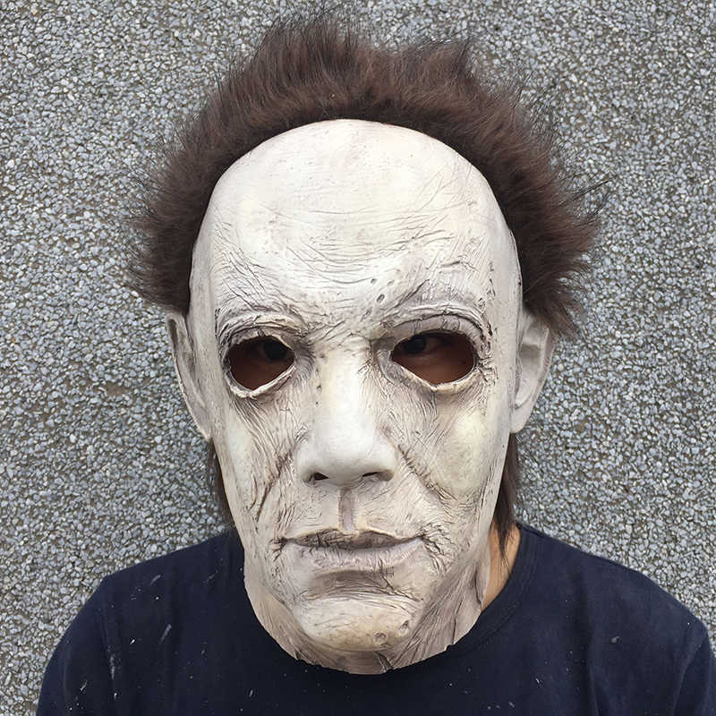 2019 New Michael Myers Mask Halloween Cosplay Horror Full Face Mask  Scary Movie Character Adults Cosplay
