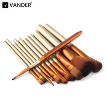 Vander Professional 12 Pcs/lot Make Up Brushes Set Foundation Face&Eye Powder Blusher Cosmetics Makeup Brush Pincel Maquiagem