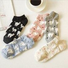 Harajuku Women Alpaca Socks cat socks Japanese Cute Womens Cartoon Animal Spring Summer Cotton sox free shipping