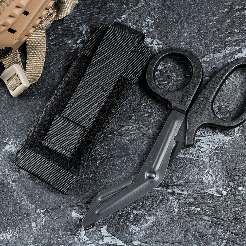 OneTigris Tactical Durable Portable Medical EMT Scissor Shears Sheath Pouch Bag Military Airsoft Hunting Molle Tool Pouch Nylon