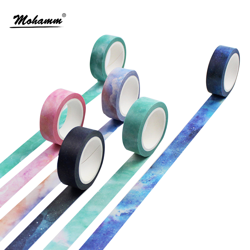 Creative Dream Sky Japanese Decorative Adhesive Tape Masking Washi Tape Diy Scrapbooking School Supplies Stationery Papelaria coloffice creative stationery bronzing series sweet memoria washi tape 40mmx5m for you adhesive tape scrapbooking decorative