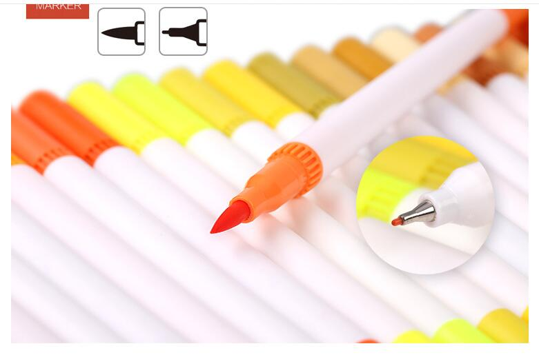 100 72 cor premium pintura caneta escova