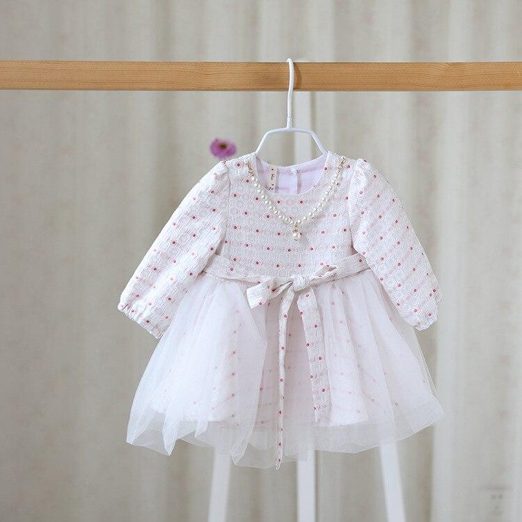 ②2016 nuevos niños otoño dulce Polka Dot vestido niñas princesa del ...