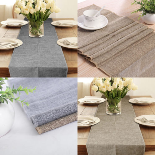 1Pcs Rectangle Cotton Linen Tablecloth Table Runner Cover Case Rectangular Cloth Economy Home Slipcover 30x180/275/300/920cm