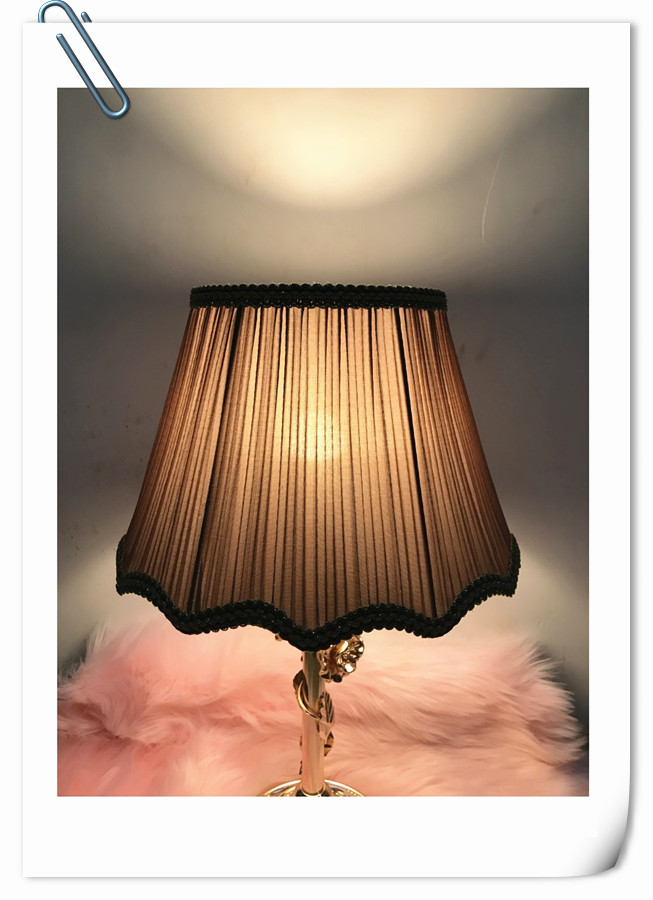 Free shipping ! iron Lampshade for table lamp wave pattern fabric table lamp cover for bedroom sitting room decoration