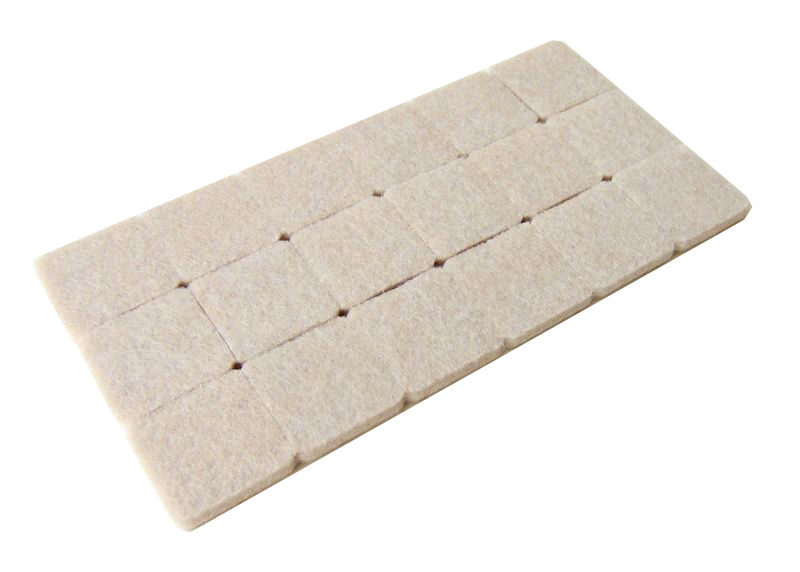 27*27mm 18x Floor Furniture Protection Abrasion Shock Wear Proof Cushion Legs Felt Pads Protector Gasket Brown Beige