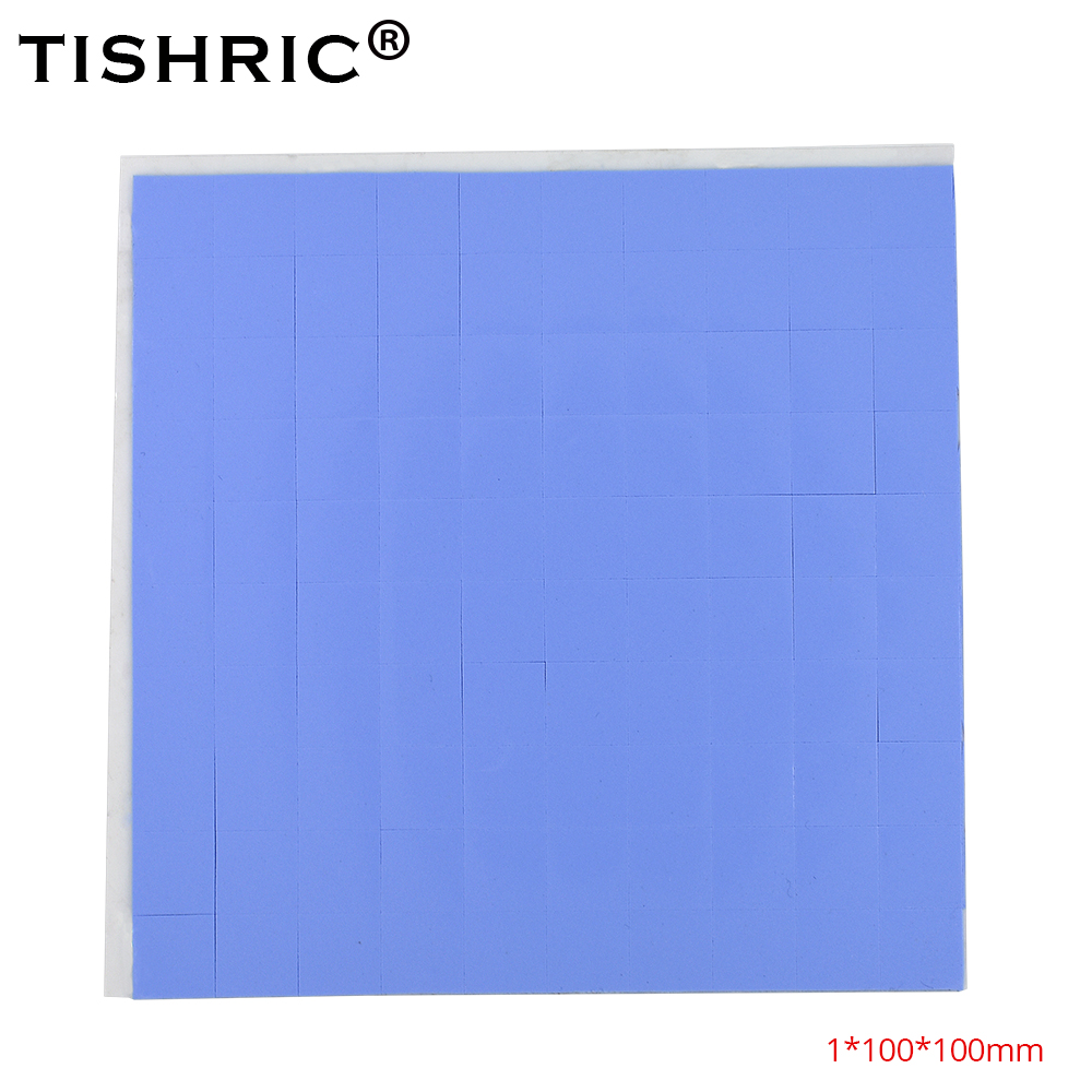 TISHRIC 2018 Newest Thermal Pads GPU CPU Heatsink Cooling Cooler Conductive Silicone Pad 10mm*10mm*1mm Drop Shipping