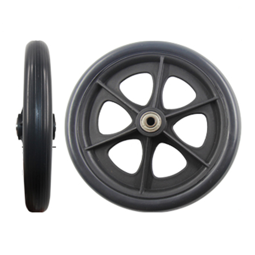 2 Pcs 8inch black front wheels for manual wheelchair, caster wheels color black цена