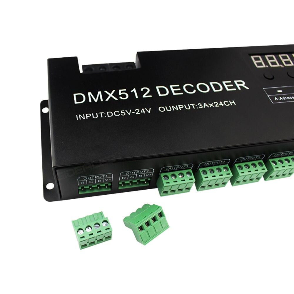 DIY 24-kanals DMX-avkodare för 8-grupp RGB LED Strip Controller 72A - Belysningstillbehör - Foto 5