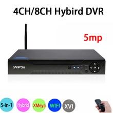 5MP Surveillance Camera XMeye Hi3531A 4CH/8CH Hybrid Coaxial WIFI 6 in 1 XVI TVI CVI NVR AHD CCTV DVR Free Shipping