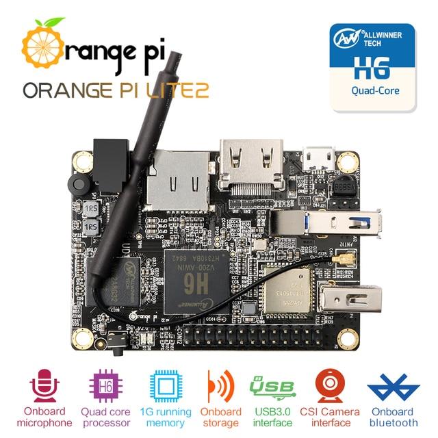 Оранжевый Pi Lite2 H6 1 ГБ USB3.0 Bluetooth4.1 Quad-core 64bit Совет по развитию Поддержка android7.0 mini PC