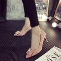 Envío libre de La Perla zapatos Asakuchi bien señaló zapatos de tacón alto con un solo zapato arco zapatos de gamuza