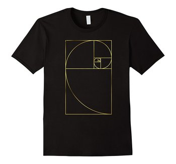 Golden Mean Ratio Phi Spiral T-Shirt