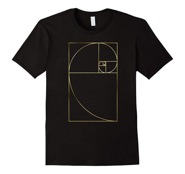 Golden Mean Ratio Phi Spiral T-Shirt