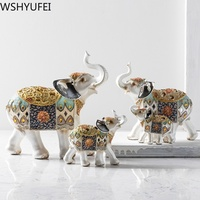 1pcs Living room home accessories wine cabinet TV cabinet decoration color elephant wedding Feng Shui ornaments gifts