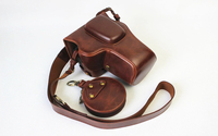 For Nikon D3400 D3200 D3300 18 55mm VR Camera Bag Case Leather Pouch with lens cap collection bag With Battery Opening