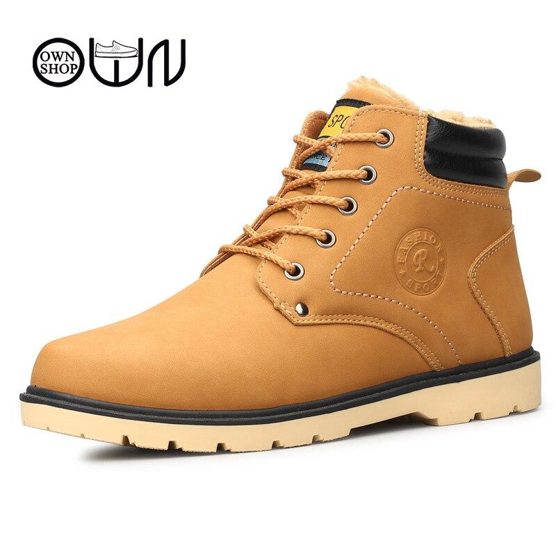 Men font b Boots b font Black Ankle Leather font b Boots b font font b