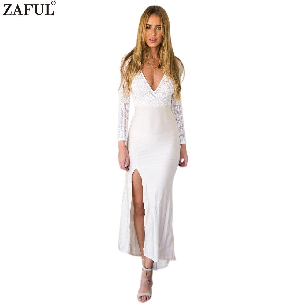 Online Get Cheap Long Sleeve White Maxi Dress -Aliexpress.com ...