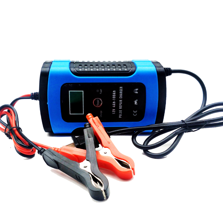 12 V 6A Moto Veloce di Riparazione Tipo di Batteria Caricabatteria Da Auto Per Il Piombo Acido di Stoccaggio Caricatore Intelligente Display LCD 110 V /220 V di Ricarica