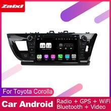 ZaiXi For Toyota Corolla 2013~2018 Car Android Multimedia System 2 DIN Auto DVD Player GPS Navi Navigation Radio Audio WiFi цена и фото