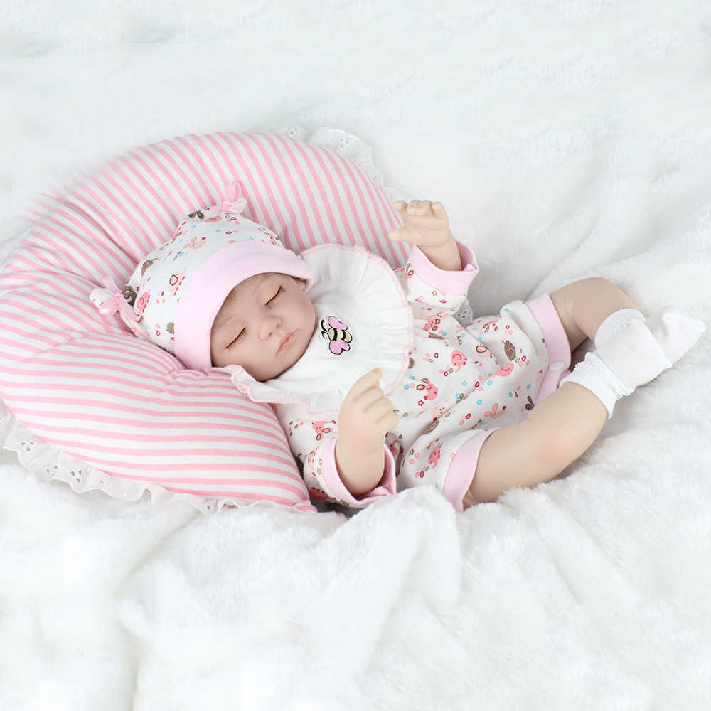KAYDORA Lifelike Renascer Bebê Boneca Brinquedos Para Presente de Crianças Dormindo Corpo Entrar Água Mini Bonecas de Silicone Crianças Playmate