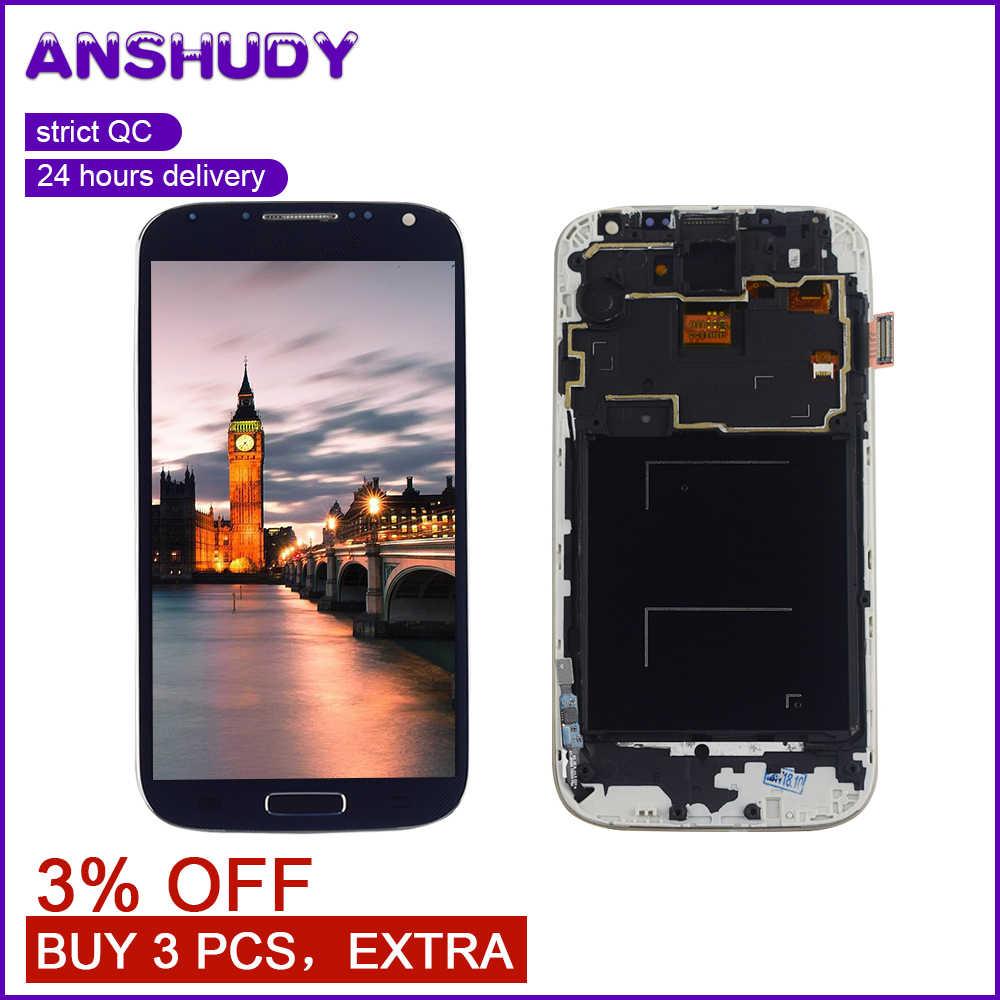 I9500 شاشات lcd لسامسونج S4 عرض مجموعة المحولات الرقمية لشاشة تعمل بلمس لشاشة عرض سامسونج غالاكسي S4 i337 i9500 i9505