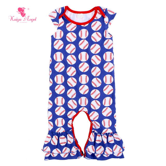 Kaiya Angel Newborn Baby Clothes Baby Rompers Girls Sport Baseball Hot Sale  Baby Rompers Infant Jumpsuits 0-24M Wholesale ee3545c3d