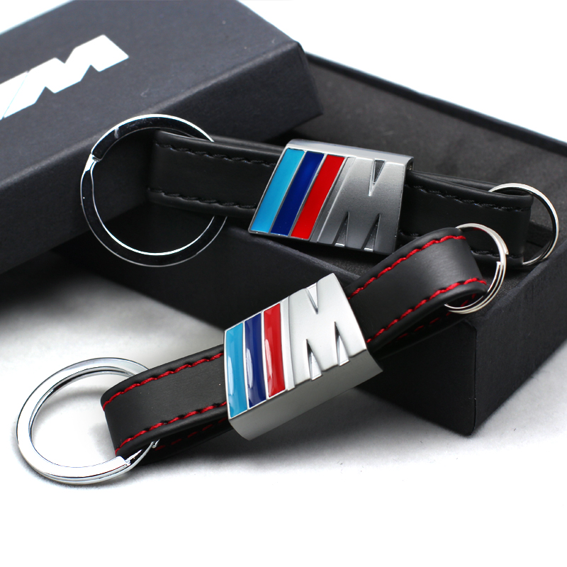 Car Leather Key Rings Fob Holder Car Logo Keychain for BMW M1 M3 F10 F20 F30 X1 X3 X6 116I 118I 730li Car styling