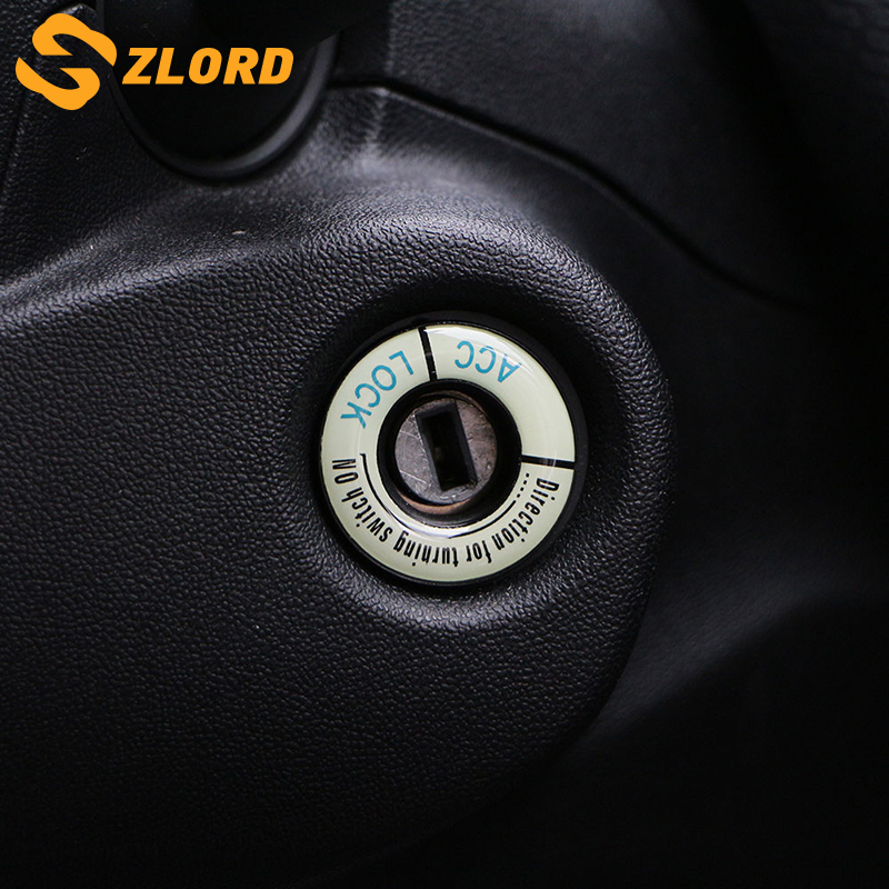 Zlord For Peugeot 2008 308 301 307 408 508 407 3008 208 Accessories Car Ignition Key Ring Cover Decorative Trim Sticker