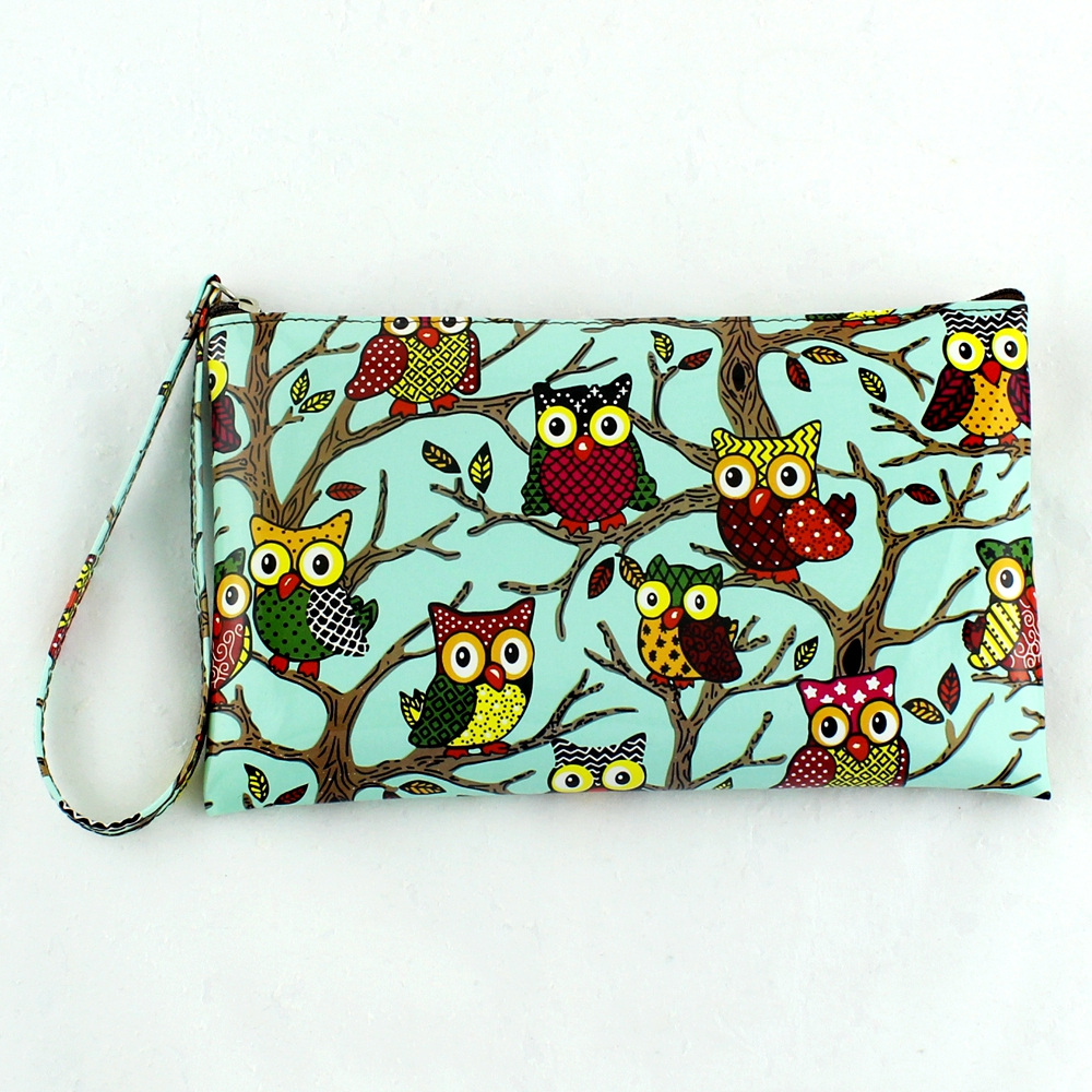 Wallets Purse Cute Owl Color Printing Zipper Long Organizer wallets Women Wallet New Ladies' Clutch Coin Purse Card & Id Holders 2016 small umbrella oil skin slim candy color purses multi card package long women wallet ladies cute sweet wallets clutch ba177 page 3
