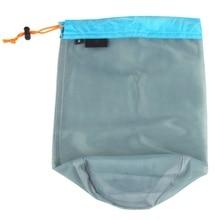 Swimming Diving Underwater Sports Bag Ultralight Drawstring Mesh Stuff Sack S-2XL
