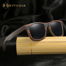KITHDIA Brand Polarized Wooden Sunglasses Men Women Designer UV400 Bamboo SunGlasses Colorful Coating Mirror Lens