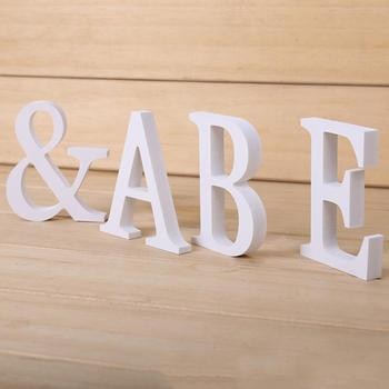 DIY Home Decor Wooden Letters For Wedding Party Home Decoration Wood Craft Wooden Nautical Decor Supplies Ornaments