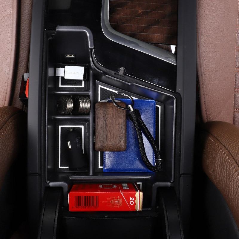 For Volvo XC60 2018 2019 Plastic  Interior Car Center Armrest Organizer Storage Glove Box Car-styling Auto Car Accessories