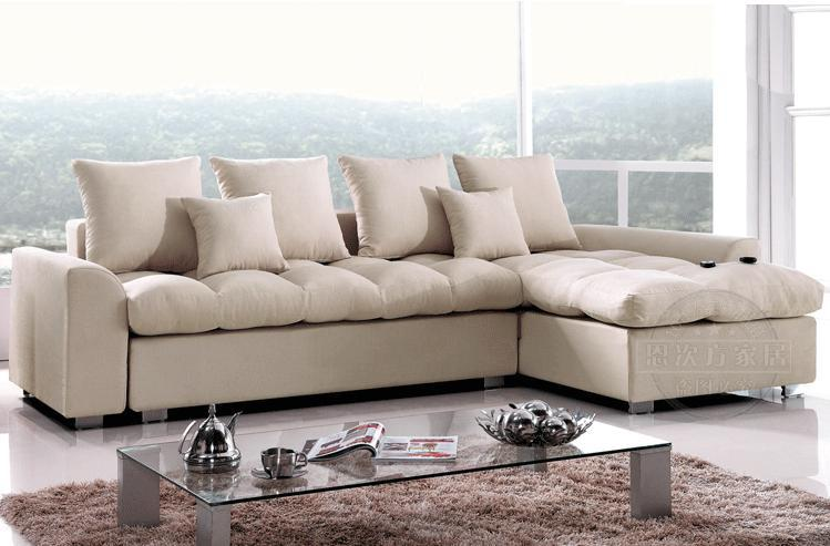 Combination Of Small Size Sofa Bed L Shaped Corner Storage Feature A