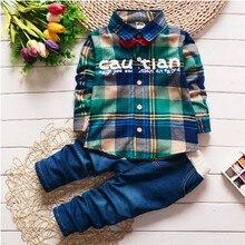 2017 Baby Boys Spring Autumn Casual Clothing Set Baby Kids Letter Clothing Sets Shirt + Pants 2-Piece Set стоимость