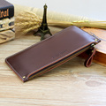 Men Genuine Leather Wallets Women Design Ultra-Thin Long Clutch Bag Female Card Holder Coin Purse Unisex Wallets Carteras Mujer