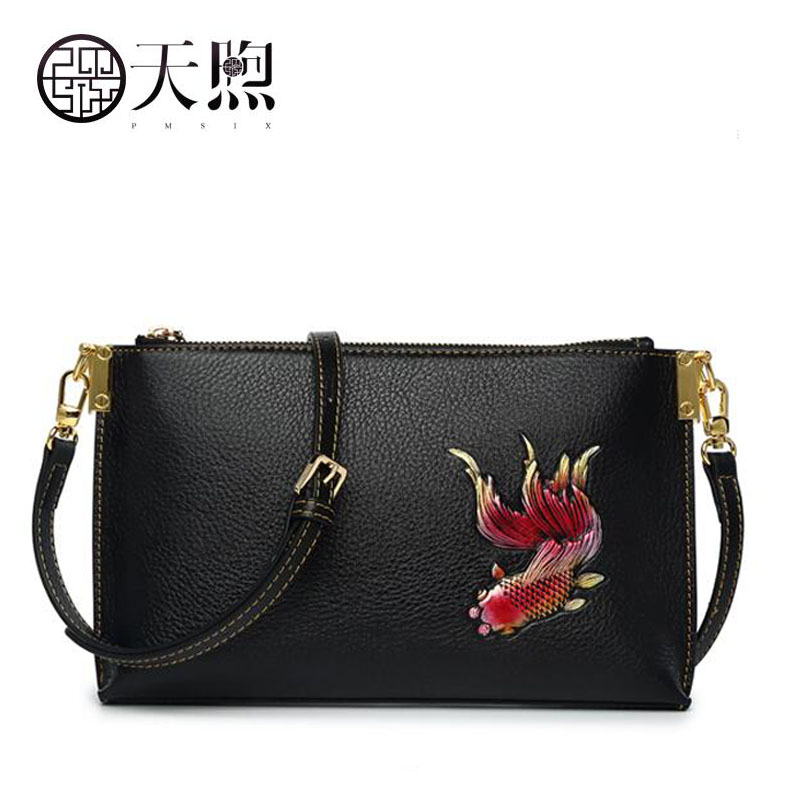 Famous brand top quality Cow Leather women bag Leather women bag 2018 new embroidery messenger bag Small square package famous brand top quality cow leather women bag women bag handbag 2018 new embroidery hand bag shoulder messenger bag