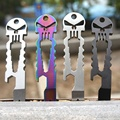 Amazing Outdoor Stainless Skull EDC Survival Pocket Tool Key Ring Chain Bottle Opener Multi-functional WQTS0133W*10