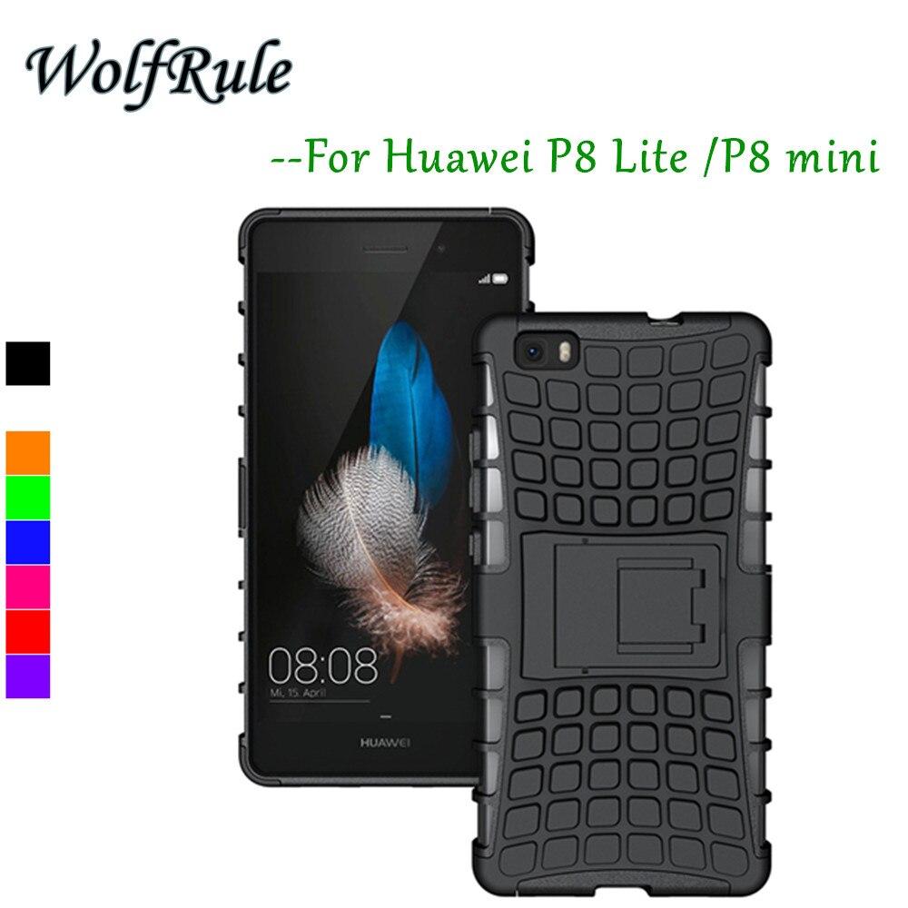 Caso Huawei P8 WolfRule Lite Cubierta antidetonantes Caso de Silicona y Plástico