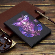 Cute Tablet Case PU Leather Case for Samsung Galaxy Tab 3 Lite 7.0 SM-T110/T111 Stand Flip Folio Owl Dog Cover With Card Slots стоимость